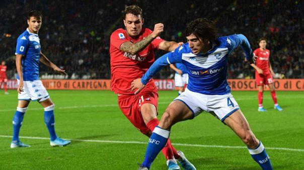 Sandro Tonali juega actualmente en el Brescia de la Serie A