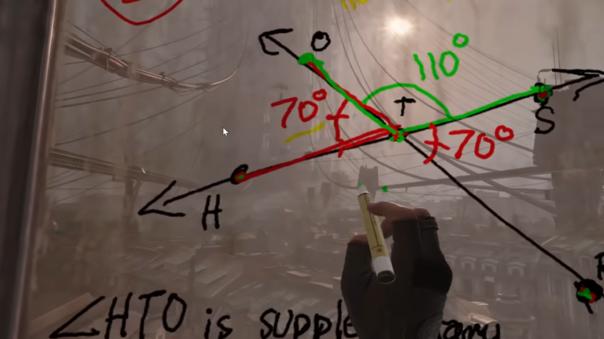 La clase sobre ángulos fue impartida en Half-Life: Alyx.