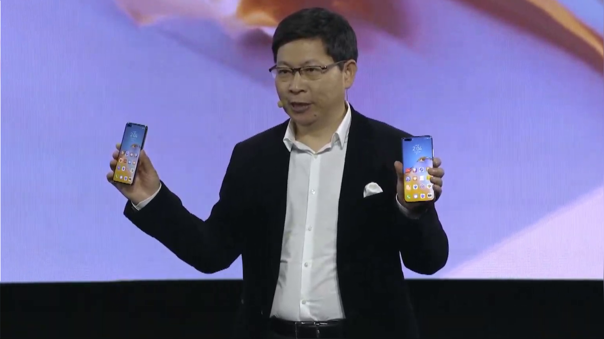 Richard Yu, CEO de Huawei Consumer Group, presentó los nuevos P40.