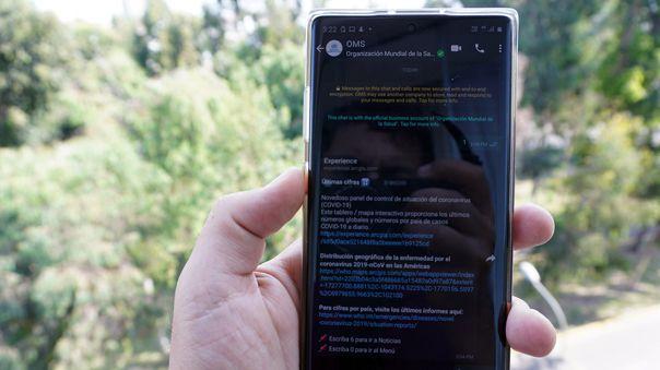 Ya está disponible el bot de WhatsApp con información oficial de la OMS.