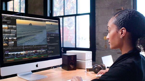 Final Cut Pro X en un ordenador iMac.