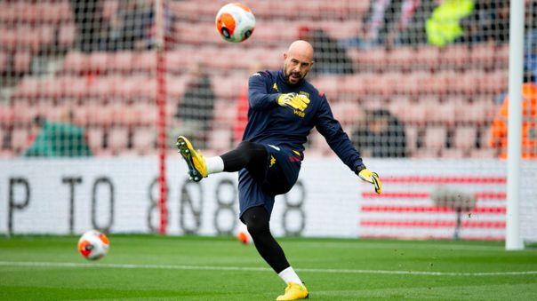 El español Pepe Reina se unió al Aston Villa en enero de 2020