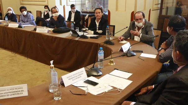 Reunión de la Junta de Portavoces con titulares del BCR y de la SBS