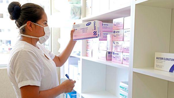 Almacén de medicamentos en la Villa Panamericana.
