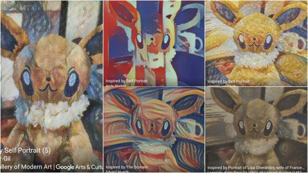 Algunos de los estilos disponibles en Google Arts & Culture.
