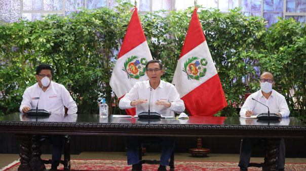 Martín Vizcarra ofrece nueva conferencia de prensa.