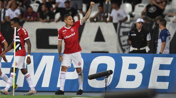Paolo Guerrero llegó a Internacional en 2019, tras su paso por Flamengo