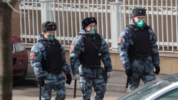 Patrulla policial en Rusia