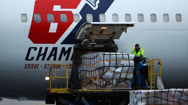 US-NEW-ENGLAND-PATRIOTS-PLANE-USED-TO-BRING-MEDICAL-SUPPLIES-FRO