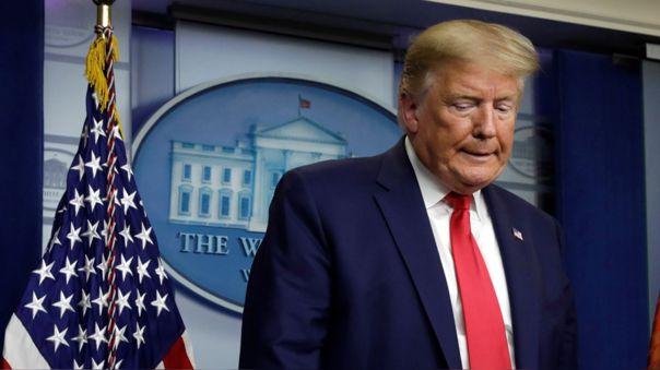 Donald Trump durante una conferencia en la Casa Blanca sobre el coronavirus
