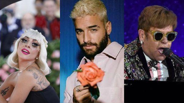 Lady Gaga, Maluma, Elton John