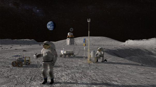 Imagen conceptual del regreso de los humanos a la Luna.