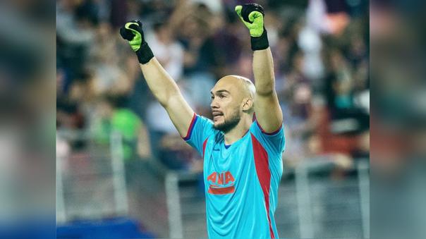 El serbio Marko Dmitrovic ataja en el Eibar de La Liga
