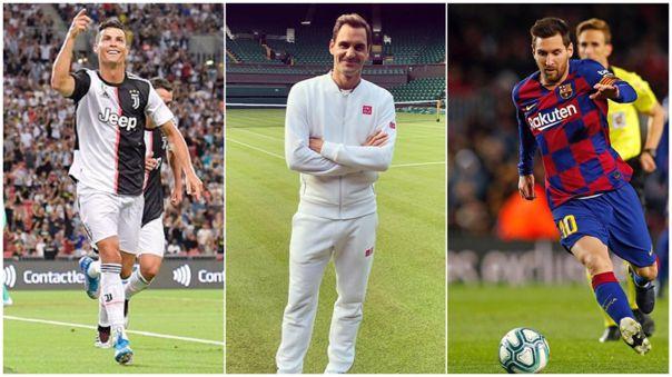Roger Federer lanzó un reto para Cristiano Ronaldo y Lionel Messi