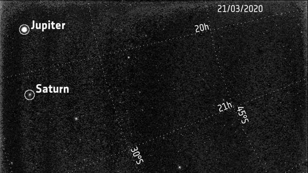 Los gigantes gaseosos fueron captados el 21 y el 25 de marzo.