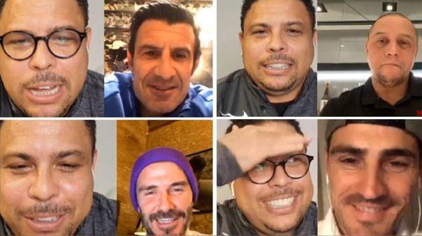 Divertida conversación entre Ronaldo y Iker Casillas, Figo, David Beckham y Roberto Carlos