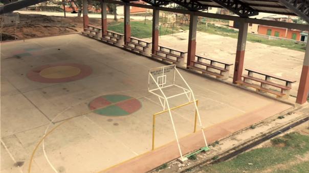 Una cancha de básket en Herrera, Colombia