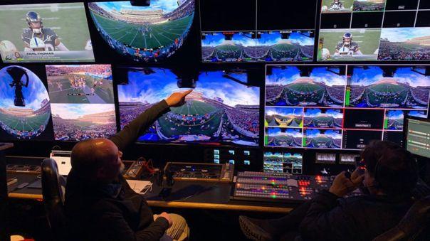 El equipo de producción dentrás de esta transmisión VR 8K 360 con 5G