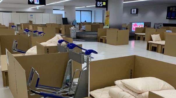 Así lucen los ambientes acondicionados en el aeropuerto de Narita.
