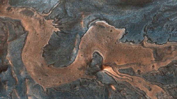 Bella imagen captada en Marte.