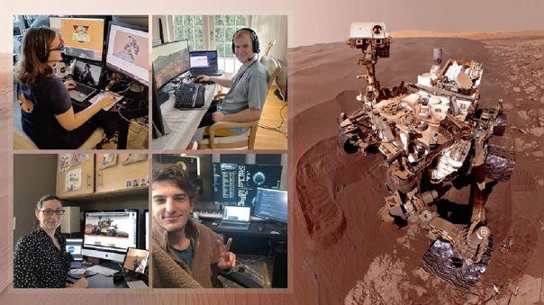 Así luce un día en la oficina casera de oeprarios en NASA