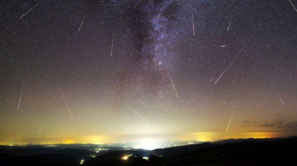 Una lluvia de meteoros de las Líridas sobre la isla de Fehmarn, Alemania, 20 de abril de 2018.