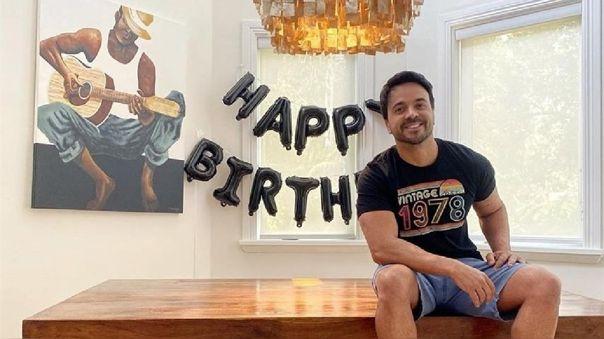 Luis Fonsi celebró su cumpleaños en cuarentena.