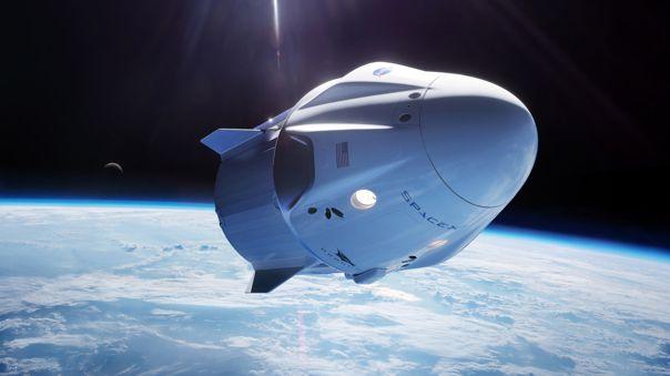 La cápsula Crew Dragon que marca el reinicio de los lanzamientos desde Estados Unidos.
