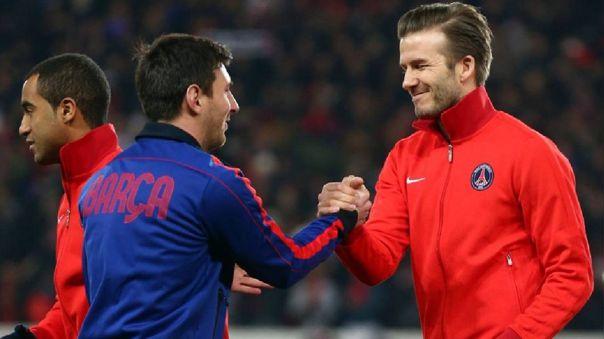 Messi y Beckham enfrentados en un partido de Champions League en 2013