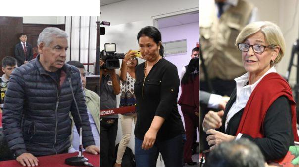 César Villanueva, Keiko Fujimori y Susana Villarán, tres investigados dentro del caso Odebrecht que buscan salir de prisión por riesgo de coronavirus.