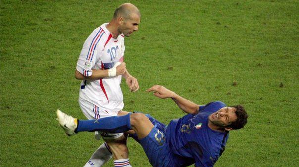 Zinedine Zidane y Marcos Materazzi
