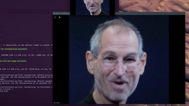 Con Avatarify podrás usar el rostro de Jobs en tus videollamadas de Zoom
