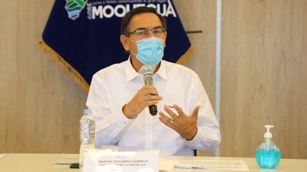 El presidente supervisó en Moquegua las acciones que se realizan en esta región.