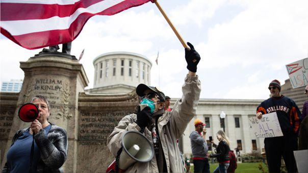 Las protestas contra la cuarentena se hacen más frecuentres en Estados Unidos