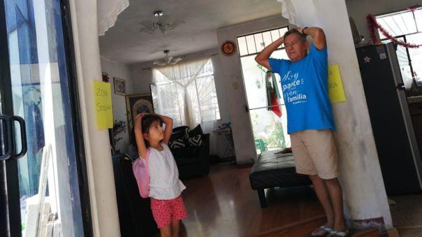 Niños y padres participaron de simulacro de sismo desde sus viviendas