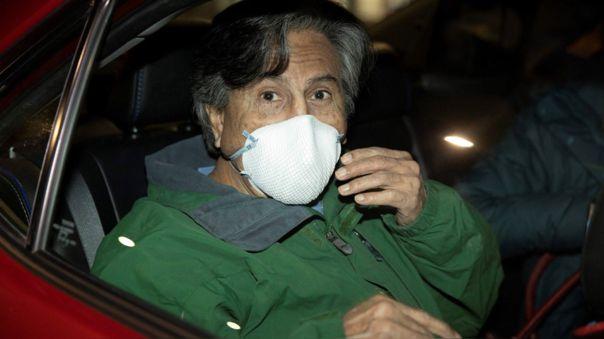 Alejandro Toledo el día de su salida de prisión