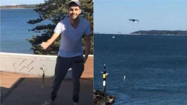 Pescar con dron