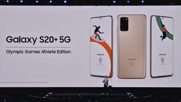 El Galaxy S20+ 5G no tendrá edición de los Juegos Olímpicos.