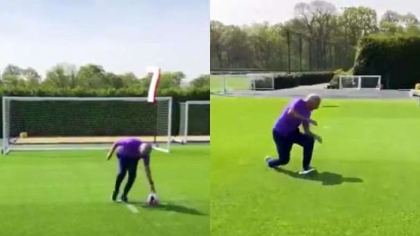 José Mourinho realizó el reto del 'penal mareado'