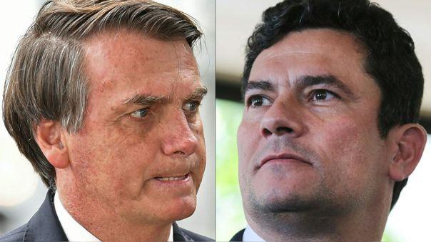 Jair Bolsonaro (izquierda) y Sergio Moro (derecha) en agosto del 2019.