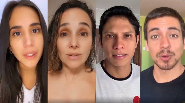 Actores envían emotivo mensaje sobre la crisis por la pandemia.
