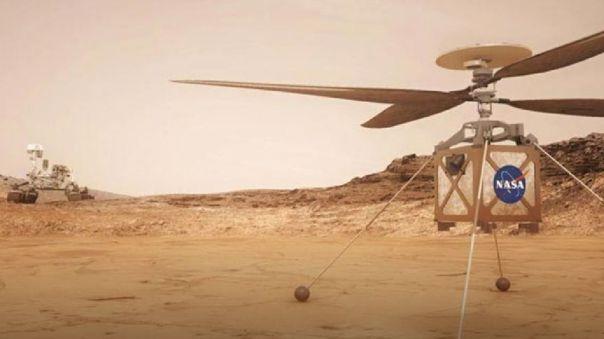 No solo rovers. La NASA planea enviar un helicóptero a Marte.