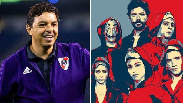 """Marcelo Gallardo fue comparado con el personaje de """"El Profesor"""" de La Casa de Papel"""