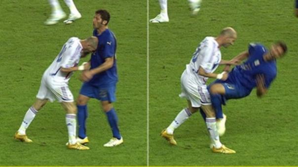 Zinedine Zidane y Marco Materazzi