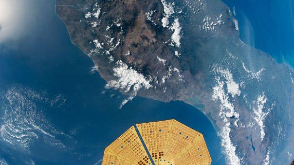 Parte de la fotografía tomada desde la Estación Espacial Internacional.