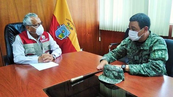 Gobernador regional, Anselmo Lozano y Gral EP, Walter Bracamonte enviarán documento a presidente Martín Vizcarra.