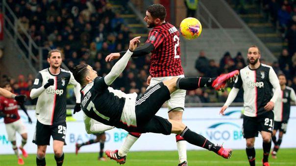 Juventus lidera la clasificación de la Serie A 2019-20