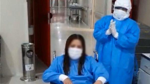 Enfermera venció al COVID.