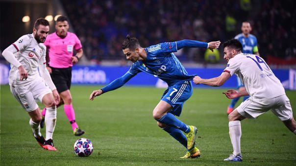 Lyon derrotó por 1-0 a Juventus en la ida de octavos de Champions League