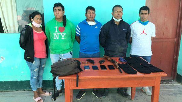 Detenidos iban a asaltar a un comerciante pesquero.